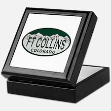 Ft Collins Colo License Plate Keepsake Box