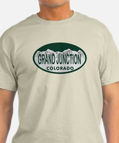 Grand Junction Colo License Plate T-Shirt