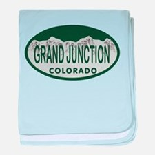 Grand Junction Colo License Plate baby blanket