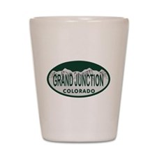Grand Junction Colo License Plate Shot Glass