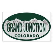 Grand Junction Colo License Plate Decal