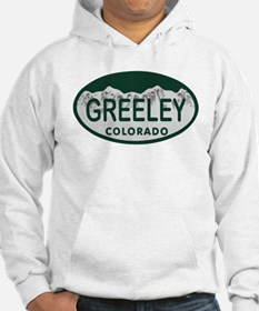 Greeley Colo License Plate Hoodie
