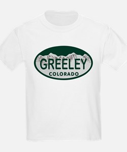 Greeley Colo License Plate T-Shirt