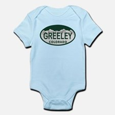 Greeley Colo License Plate Infant Bodysuit