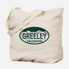 Greeley Colo License Plate Tote Bag