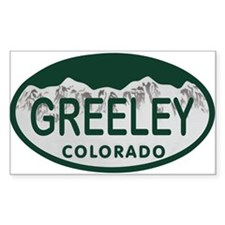 Greeley Colo License Plate Decal