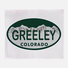 Greeley Colo License Plate Throw Blanket