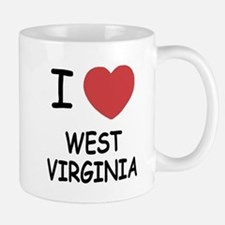 I heart west virginia Mug