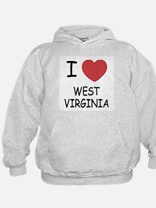 I heart west virginia Hoodie