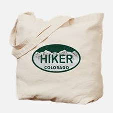 Hiker Colo License Plate Tote Bag