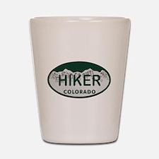Hiker Colo License Plate Shot Glass