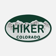 Hiker Colo License Plate Wall Decal