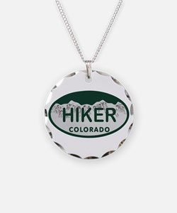 Hiker Colo License Plate Necklace