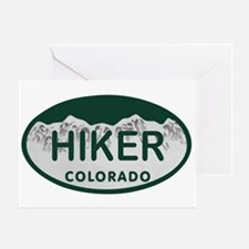Hiker Colo License Plate Greeting Card