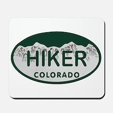 Hiker Colo License Plate Mousepad