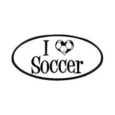 I Heart Soccer Patches