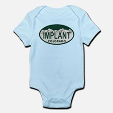 Implant Colo License Plate Infant Bodysuit