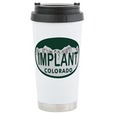 Implant Colo License Plate Travel Mug