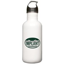 Implant Colo License Plate Water Bottle