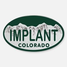 Implant Colo License Plate Sticker (Oval)