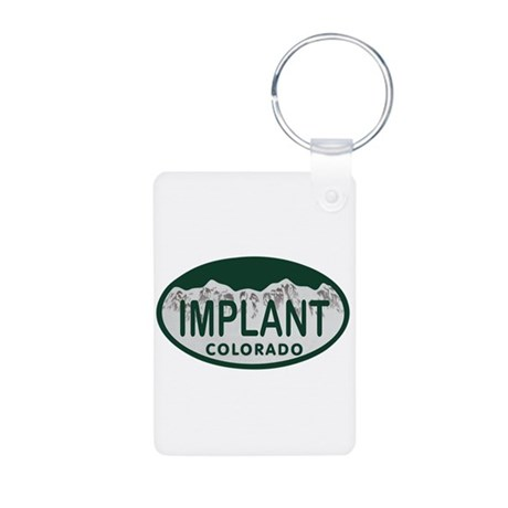 Implant Colo License Plate Aluminum Photo Keychain