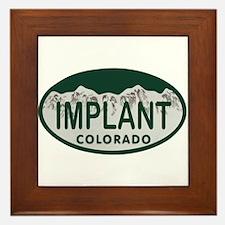 Implant Colo License Plate Framed Tile