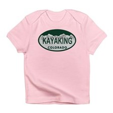 Kayaking Colo License Plate Infant T-Shirt