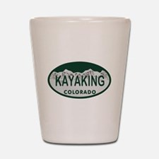 Kayaking Colo License Plate Shot Glass