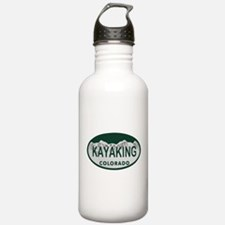 Kayaking Colo License Plate Water Bottle
