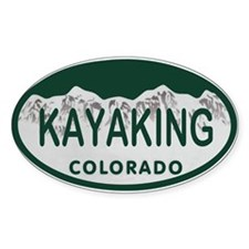 Kayaking Colo License Plate Decal