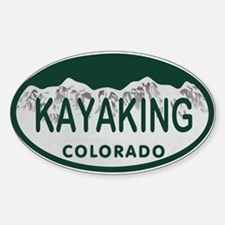 Kayaking Colo License Plate Sticker (Oval)
