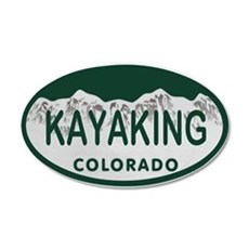 Kayaking Colo License Plate Wall Decal