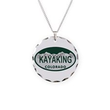 Kayaking Colo License Plate Necklace
