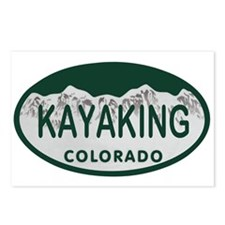 Kayaking Colo License Plate Postcards (Package of