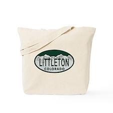 Littleton Colo License Plate Tote Bag