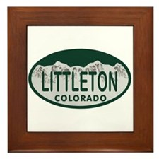 Littleton Colo License Plate Framed Tile