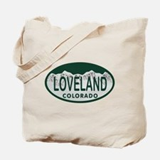 Loveland Colo License Plate Tote Bag