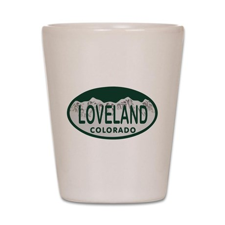 Loveland Colo License Plate Shot Glass
