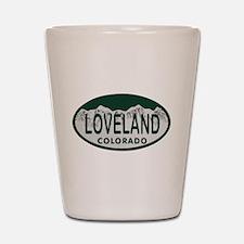 Loveland Colo License Plate Shot Glass