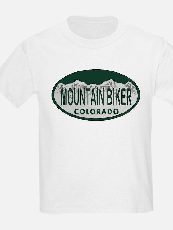 Mountan Biker Colo License Plate T-Shirt