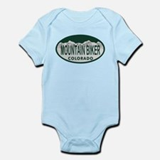 Mountan Biker Colo License Plate Infant Bodysuit