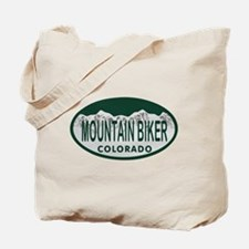 Mountan Biker Colo License Plate Tote Bag