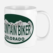 Mountan Biker Colo License Plate Mug