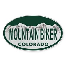 Mountan Biker Colo License Plate Decal
