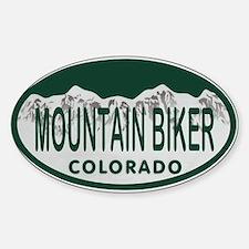 Mountan Biker Colo License Plate Decal