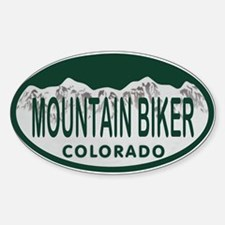 Mountan Biker Colo License Plate Sticker (Oval)