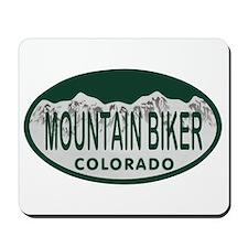 Mountan Biker Colo License Plate Mousepad