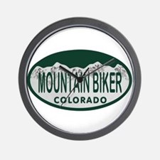 Mountan Biker Colo License Plate Wall Clock