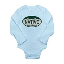 Native Colo License Plate Long Sleeve Infant Bodys