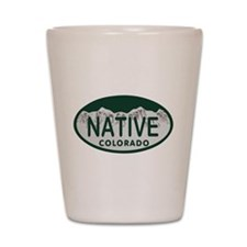 Native Colo License Plate Shot Glass